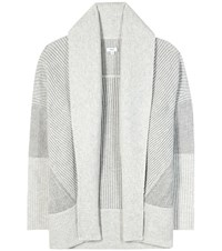 Vince Wool And Cashmere Open Cardigan Grey