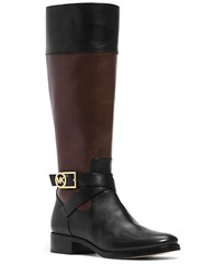 Michael Michael Kors Bryce Mid Calf Leather Boots Black Brown