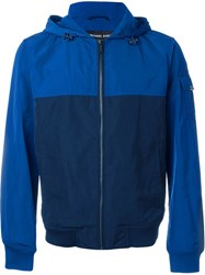 Michael Kors Colour Block Hooded Jacket Blue