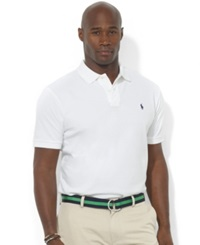Polo Ralph Lauren Big And Tall Polo Shirt Classic Fit Mesh White