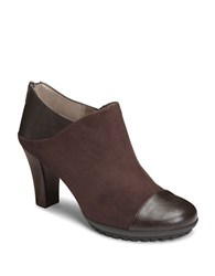 Aerosoles Commentary Platform Ankle Boot Brown Fabric