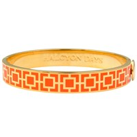 Halcyon Days Enamel Mosaic Bangle Orange Gold