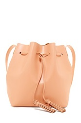 Shiraleah Anya Drawstring Bucket Bag Beige