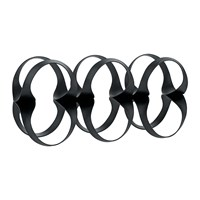 Alessi Ribbon Bottle Rack Black