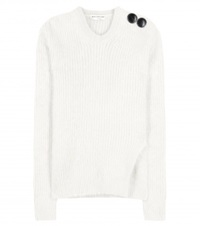 Balenciaga Angora Blend Sweater White