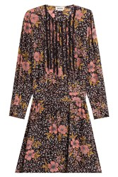 Zadig And Voltaire Printed Silk Dress Florals