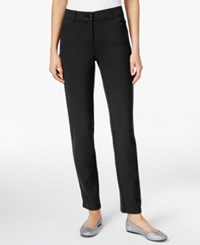 Styleandco. Style Co. Ponte Slim Leg Pants Only At Macy's Deep Black
