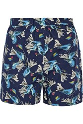 Title A Printed Cotton Poplin Shorts Navy