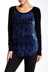 Hale Bob Silk Blend Sweater Blue