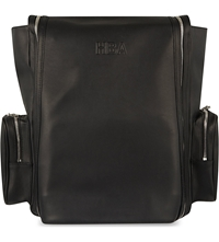 Hood By Air Double Zip Leather Backpack Black