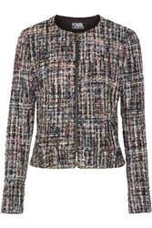 Karl Lagerfeld Metallic Boucle Tweed Jacket Black