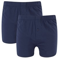 Wolsey Men's Twin Pack Jersey Boxer Shorts Navy
