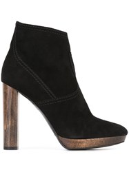 Burberry High Heel Ankle Boots Black