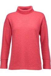 Magaschoni Textured Cashmere Sweater Coral