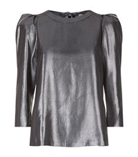 Claudie Pierlot Brilliant Metallic Top Female Silver