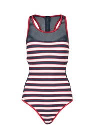 Tommy Hilfiger Nautical Mesh Swimsuit Navy Navy