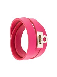 Salvatore Ferragamo 'Gancio' Bracelet Pink And Purple