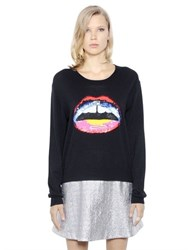 Markus Lupfer Lips Sequined Merino Wool Sweater