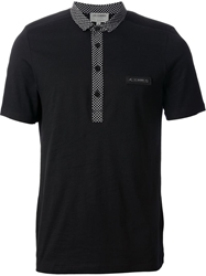 Les Hommes Short Sleeve Polo Shirt Black