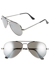 Women's Randolph Engineering 'Concorde' 57Mm Aviator Sunglasses Gunmetal Grey Flash Mirror