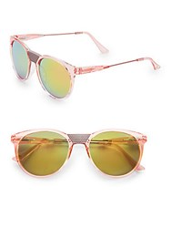 Minkpink 57Mm Round Sunglasses Pink