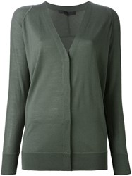 Alexander Wang V Neck Cardigan Green