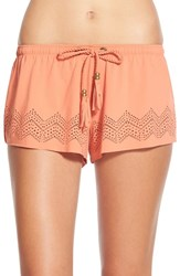 Junior Women's Rip Curl 'Summerville' Board Shorts Rust