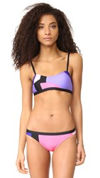 Kate Spade Limelight Cami Bikini Top Black Multi