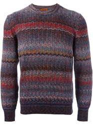Missoni Zig Zag Knitted Jumper Multicolour