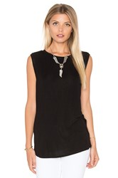 Michael Stars Twist Back Shell Tank Black