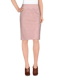 Rena Lange Knee Length Skirts Pink