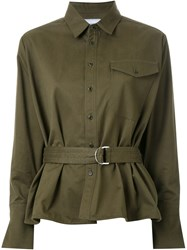 Fad Three Belted Military Shirt Green