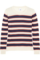 Iris And Ink Alaina Striped Cashmere Sweater White