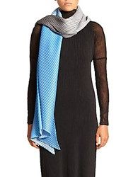 Issey Miyake Pleated Gradiation Scarf Light Blue