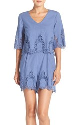Women's Eci Embroidered Cotton Romper
