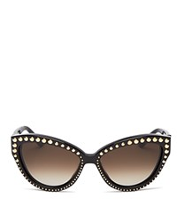 Moschino Studded Cat Eye Sunglasses 56Mm Charcoal Gradient Lens