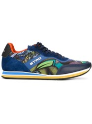 Etro Panelled Sneakers Blue