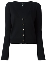 Class Roberto Cavalli Cropped V Neck Cardigan Black