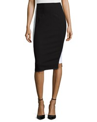 Zac Zac Posen Colorblock Pencil Skirt Black White
