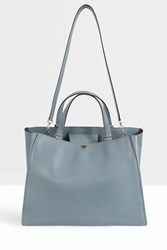 Valextra Top Handle Large Tote Grey