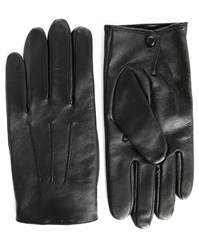Sandro Black Classic Leather Gloves