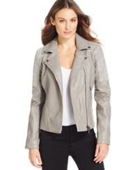 Calvin Klein Jeans Faux Leather Faux Suede Trim Jacket Prime Gray