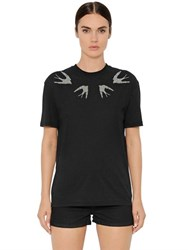 Mcq By Alexander Mcqueen Studded Cotton Jersey T Shirt
