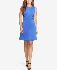 American Living Two Toned Ponte Dress Blue Black