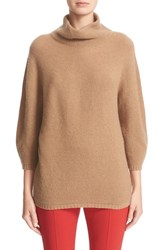 Max Mara Women's 'Ovale' Wool And Cashmere Sweater Camel