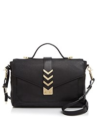 Mackage Caine Medium Satchel Black Gold