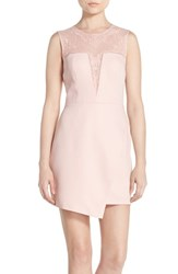 Women's Bcbgmaxazria 'Kinsley' Embroidered Mesh And Satin A Line Dress