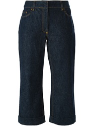 Dolce And Gabbana Vintage Cropped Jeans Blue