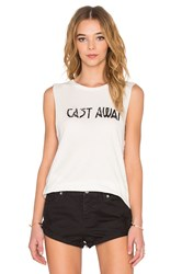 Amuse Society Cast Away Muscle Tank White