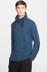 Y 3 Cowl Neck Sweatshirt With Zip Out Hood Black Blue
